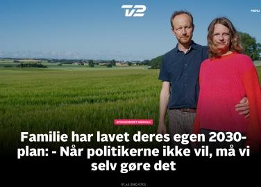 TV2-kampagne sommer 2020. 2030-plan. Charlotte Weitze og Jacob Antvorskov